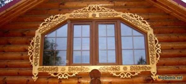 Деревянные наличники на окна резные узоры для обрамления окон с фото